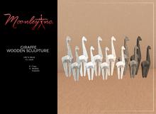Moonley Inc. - Giraffe Wooden Sculpture