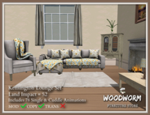 [Woodworm] KENSINGTON FLORAL COMPLETE LOUNGE SET*