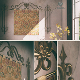 Calm. Victorian Tapestry Feature & Side Bars