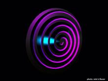 Hypnotic Spiral 3D design