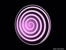 Hypnotic Spiral Flat Design