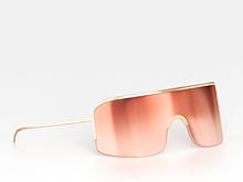 Salvadori - 'Aaliyah' Gold-Frame Sunglasses