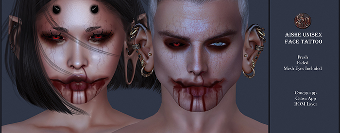 Suicide Gurls - Aishe Face Tattoo & Mesh Eyes