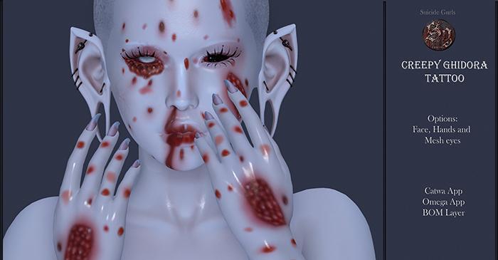 Suicide Gurls - Creepy Ghidora Tattoo & Eyes