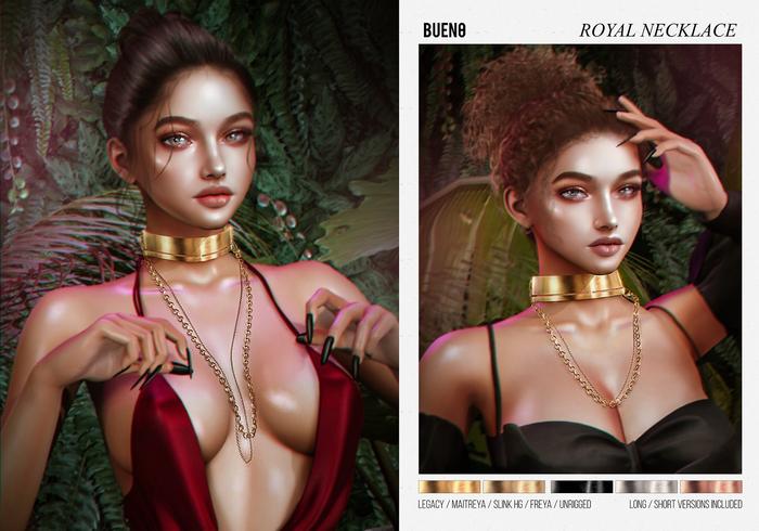 BUENO-Royal Necklace-Rose Gold