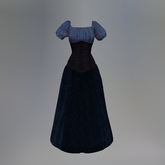 Blue Striped Slink Wench Dress