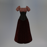 Red Striped Slink Wench Dress