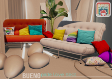 BUENO-Tinks Love Seat-Pride-White