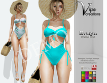 [Vips Creations] - DEMO-Original Mesh Swimsuit - [Evelyn]FITTED