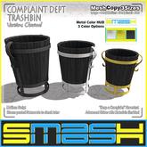 SMASH - Complaint Dept. Trashbin (Version: Charcoal)