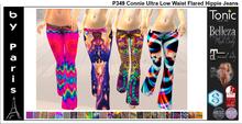 Connie Ultra Low Waist Flared Hippie Jeans - Maitreya Belleza Slink Tonic Legacy Alice Ebody