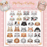 12{ Pity Party+CryBaby } Snuggle Stuffies Kitty Spotted