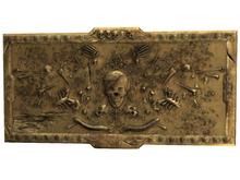 10 Skull Frame Brass