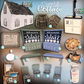 [Kres] Cornish Cottage - Table (Green) - 9