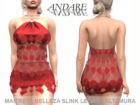 Andare - Ann Dress Red