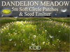 30 Grass DANDELION Meadow * Seed Emitter * 5M * Soft Flat Circle * Trans-Mod