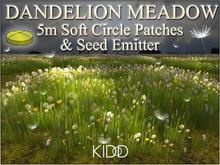 30 Grass DANDELION Meadow * Seed Emitter * 5M * Soft Flat Circle * Trans-Mod