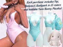 Lunar - Yumi Top & Bodysuit - Aqua (Boxed)