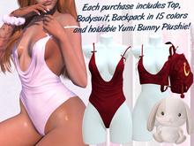 Lunar - Yumi Top & Bodysuit - Scarlet Red