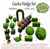 2x Gacha Hedge Set *Flower Box + LightTree* 3 Prim Rare