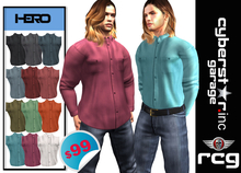 """Men's_ """"HERO""""_ Shirt  - Tucked In & Un-Tucked"""