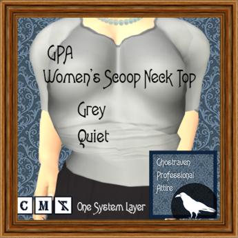 GPA Women's Scoop Neck Top - Grey Quiet (ADD to unpack)