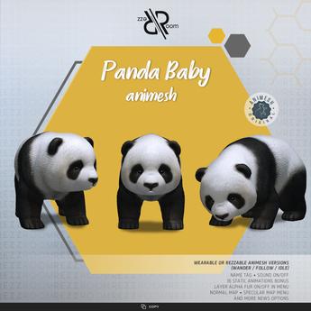 [Rezz Room] Box Panda Baby Animesh (Companion)