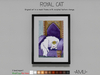 ~AMU~ Royal Cat - framed cartoon art