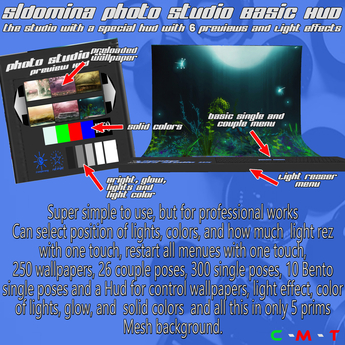LIMITED PROMO Photo Studio V5 Basic - Mesh 250 Wallpapers 300 Single Poses 26 Couple Hud preview FREE GIFT Camera TipJar