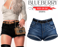 Blueberry - Ride or Die - Shorts - Blue2