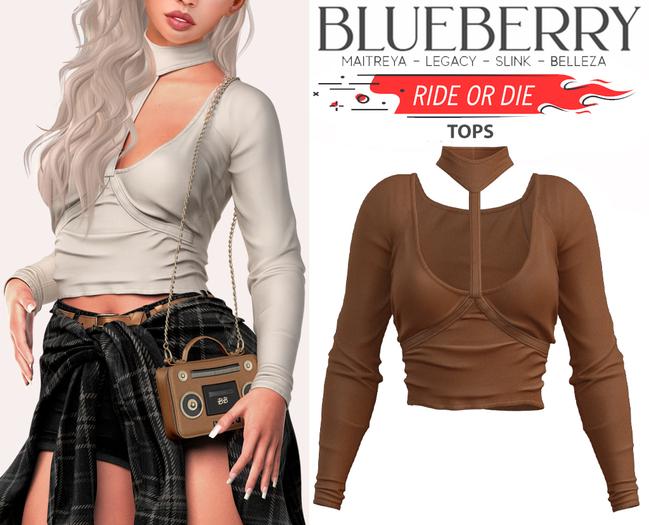 Blueberry - Ride or Die - Tops - Tan