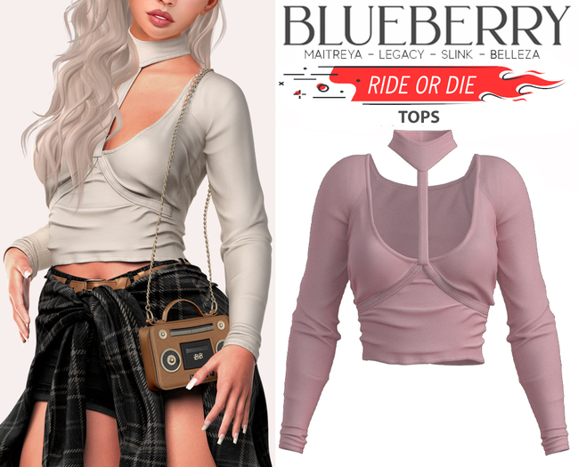 Blueberry - Ride or Die - Tops - Pixie