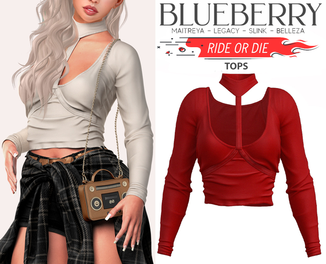 Blueberry - Ride or Die - Tops - Red