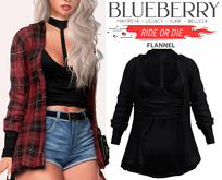 Blueberry - Ride or Die - Flannel - BlackLight