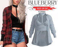 Blueberry - Ride or Die - Flannel - Cloud