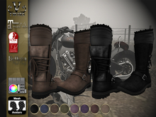 V-Twins Biker Boots - Devyn for Maitreya, Slink and Belleza
