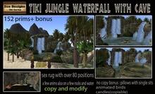 PROMO 80% OFF!! Tiki Jungle waterfall and cave-tiki grotto,tropical waterfall,tropical jungle