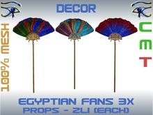 DECOR - EGYPTIAN FANS 3X