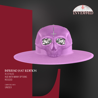 +INVERTED+ Inferno Hat EDITION -Lavender-