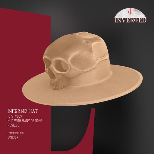 +INVERTED+ Inferno Hat -Beige-