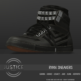 [JUSTICE] RYAN SNEAKERS - EBONY