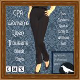 GPA Women's Trousers Linen - Black Onyx (ADD & touch)