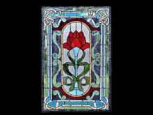 1 Prim WALL DECOR-29 Window Stained Glass The Perfect Rose COPY/MOD Place anywhere! SL ILLUSION Crafted ART looks real