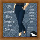GPA Women's Trousers Linen - Blue Ghostraven