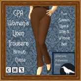 GPA Women's Trousers Linen - Brown Cocoa (ADD & touch)