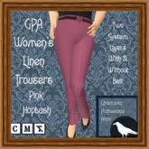 GPA Women's Trousers Linen - Pink Hopbush (ADD to unpack)