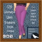 GPA Women's Trousers Linen - Purple Fuchsia (ADD to unpack)
