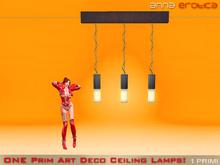 Anna Erotica - ONE Prim Art Deco Ceiling Lamps (box)