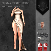 **Mistique** Nyana Pastel Beige{wear me and click to unpack)
