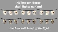 Halloween decor - skull lights garland
